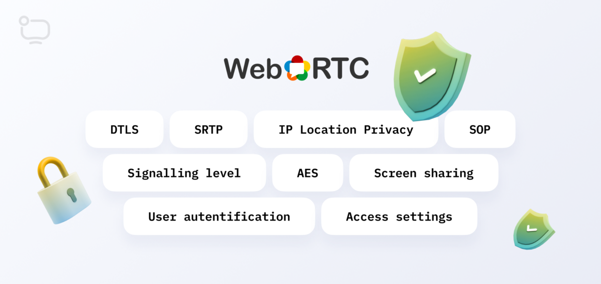 what is security in webrtc